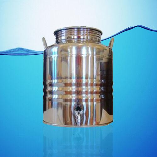 SUPERFUSTINOX Acier inoxydable distributeur d'eau fusti 25 L 6.6 Gal (environ 24.98 L) + cadeau