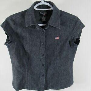 Lauren Details Top About Dark Jeans Faux Shirt Ralph Denim Small Polo S Blue gYb6fy7v
