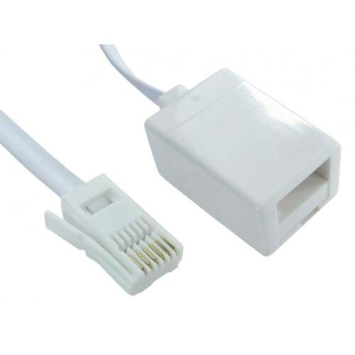 10m LONG Telephone Phone Line BT Extension Cable FULLY WIRED 6 Pin Core 10 METRE