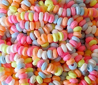 10 20 40 CANDY NECKLACES~FRUIT FAVOURS BRIGHT COLOURS~FREE POST UK