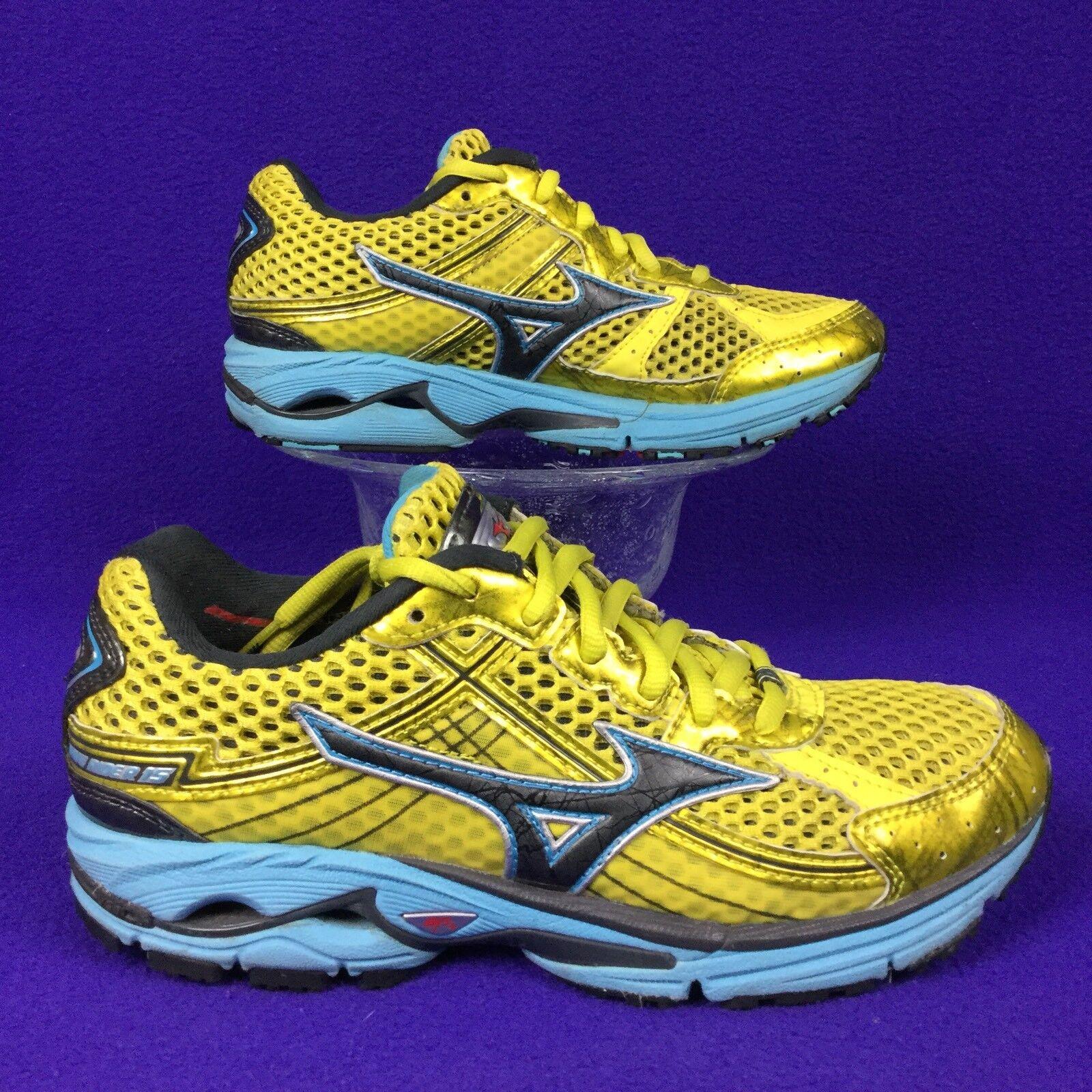 MIZUNO WAVE RIDER 15 jaune bleu running walking chaussures . 36 femmes 6