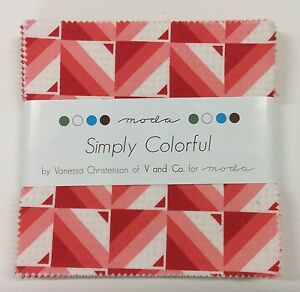 Simply-Colorful-by-V-and-Co-fabric-Charm-Squares-42-x-5-034-squares-Moda