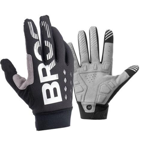 RockBros Bike Full Finger Gloves Cycling Non-slip Mitts Fleece Warm Gloves Black