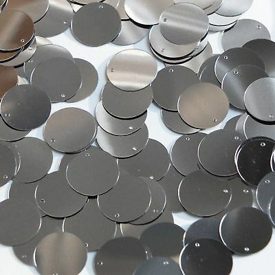 5mm Flat SEQUIN PAILLETTES ~ Hematite Shiny Gray Gunmetal Metallic ~ Made in USA