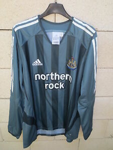 VINTAGE-Maillot-NEWCASTLE-UNITED-ADIDAS-2006-away-shirt-manches-longues-L