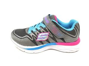 NUOVO-Girl-039-s-Skechers-81131L-DREAM-N-Dash-Fantasia-Grigio-Rosa-Blu-199N-SM