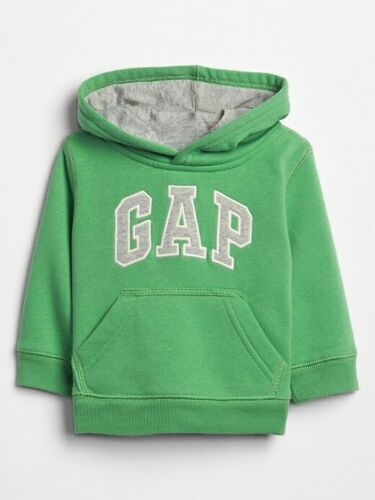 NWT Baby Gap Boys Logo Hoodie Sweatshirt   green  u pick size
