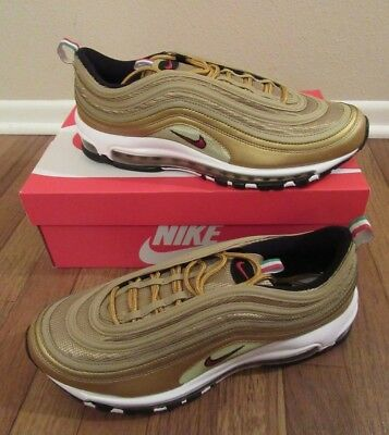 Nike Air Max 97 It Italy Size 10.5 Metallic Gold Varsity Red Aj8056 700