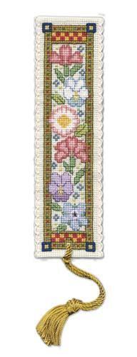 GIARDINO MEDIEVALE Segnalibro Punto Croce Kit da parte del patrimonio tessile