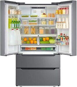 Counter Depth Fridge French Door Refrigerator Freezer Stainless Steel 22.5 CU FT