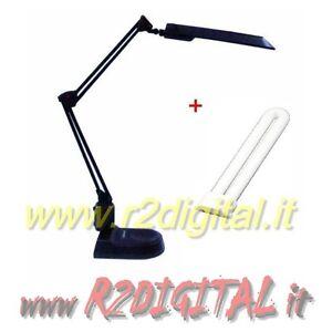 Lampada da tavolo risparmio energetico 11w scrivania per for Tavolo da studio