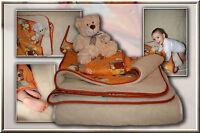 Children Bed Set Merino Wool Baby Bed, 3 Piece Upper Bed, Under Bed, Pillow