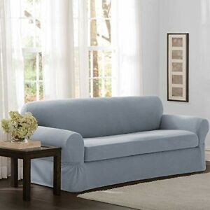 Details about Sofa Furniture Cover Slipcover 2 Piece Washable Soft Stretch  Sofa Cover 74-96in