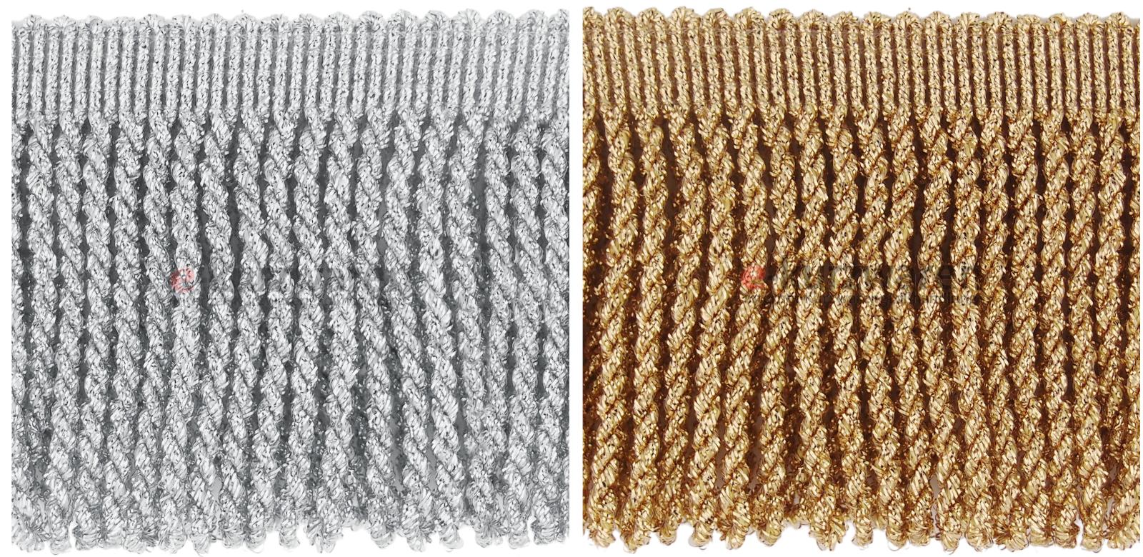 Metallisierte Fransen 10cm 10m Fransenborte Fransen Vorhang Dekoration Borte | Hohe Qualität Und Geringen Overhead
