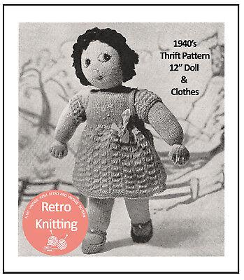 """12"""" Lavorato A Maglia Doll E Abiti Pattern-copia-mostra Il Titolo Originale Vuoi Comprare Alcuni Prodotti Nativi Cinesi?"""