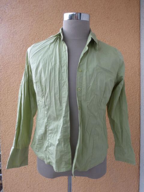 schicke Damenbluse, Damenhemd, Langarm, hellgrün, Größe 40
