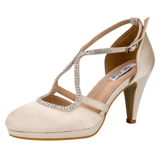 SheSole Ladies Platform Heel Sandals Evening Party Dress Wedding Shoes