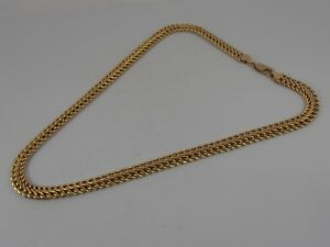 9ct-YELLOW-GOLD-FANCY-LINK-NECK-CHAIN-NECKLACE-16-034-LONG-HALLMARKED-CHOKER-CHAIN