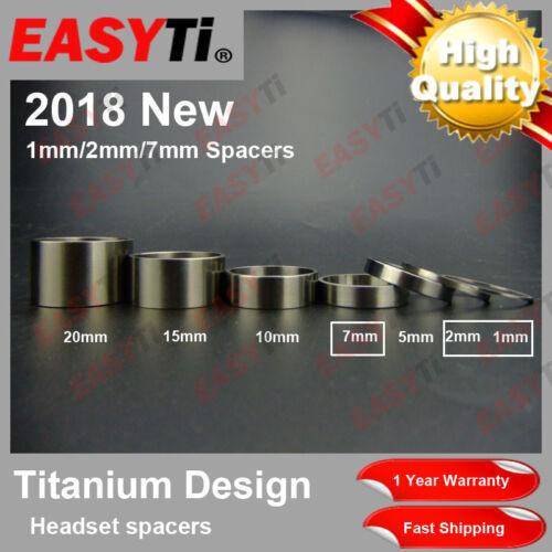 "1-2-7-5-10-15-20mm for Headset/&Stem front fork EasyTi Titanium//Ti Spacer 1-1//8/"""