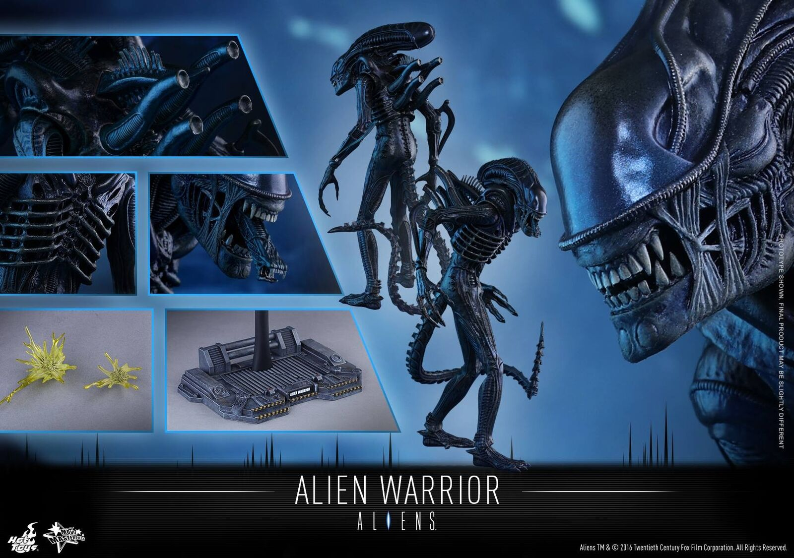 (US) HOT TOYS 1 6 ALIENS MMS354 ALIEN WARRIOR MOVIER MASTERPIECE 35CM FIGURE