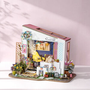 Robotime-Miniature-Doll-House-1-24-Kits-Wooden-Furniture-Home-Decor-Lily-039-s-Porch
