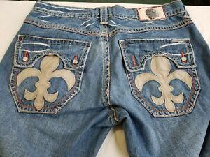Laguna Beach Jeans 36 X 34 Remaches Craneo Lavado Mediano Ebay