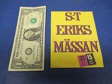 St. Eriks Massan Travel Brochure,1957,Stockholm,Rikligare,Redigare,Roligare,S181