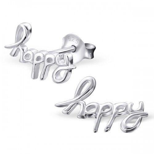 Para Niños señoras plata Feliz Zarcillos