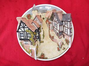 DAVID WINTER Collectors Guild Piece 3D Wall Plaque Village Scene Boxed