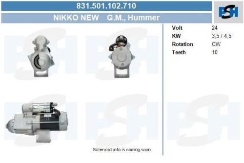 Nikko Anlasser für Startanlage 831.501.102.710