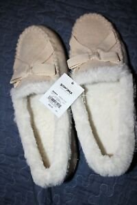ab8f4358bee Sonoma Good For Life Hatchi Moccasin Beige Slippers Size XL 11-12 ...