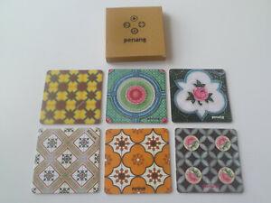 Awesome-1-Box-6-pcs-of-Retro-Peranakan-Style-Hardboard-Coaster