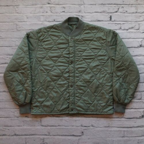 Vintage Diamond Quilted Military Jacket Liner Size