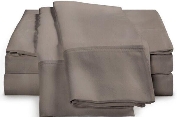 (2) Luxor 100% Cotone Egiziano 400 Fili Federa ~grigio~ Standard **nuovo** I Colori Stanno Colpendo