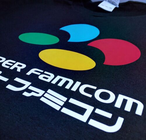 SNES Inspired Super Famicom Japanese Decal Tribute T-Shirt