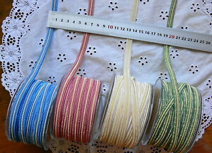 Nylon-Two-Toned-Striped-BRAID-10mm-Wide-3-Metre-Lengths-4-Colour-Choice-ARD7