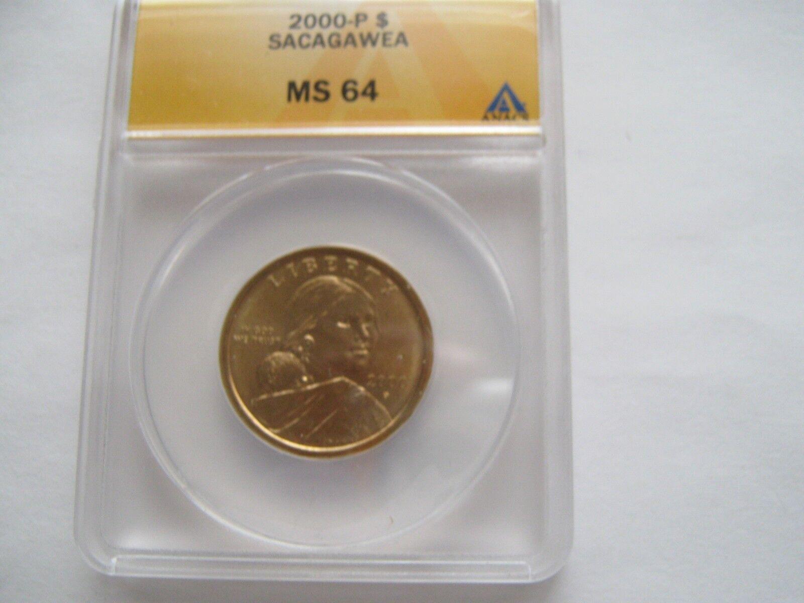 2000 P , Sacagawea / Native American Dollar , MS 64, AN