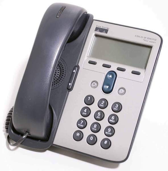 CISCO 7912 CP-7912G UNIFIED IP BUSINESS PHONE 2 LINE HANDSET