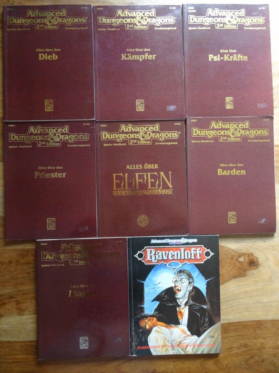 Diverse AD&D 2nd Edition Module zur Auswahl (D&D, Ravenloft)