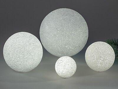632074 LED Kugel mit Batterie Warm Weiß 20cm LED Lichtkugel Leuchtkugel