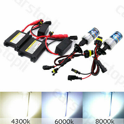 2X BULBS FOR AFTER MARKET HID CONVERSION KIT XENON 8000K BLUE 55W WIRE IN
