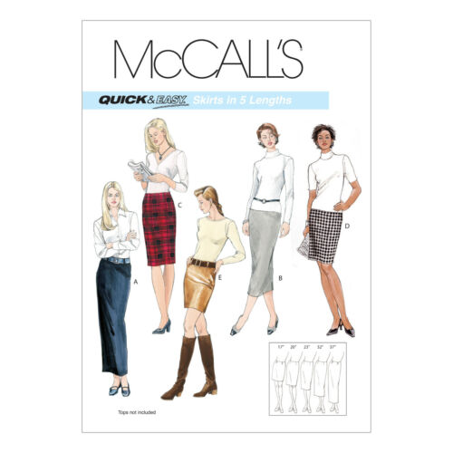 McCall/'s 3830 Sewing Pattern to MAKE Misses/' Pencil Skirts In Five Lengths