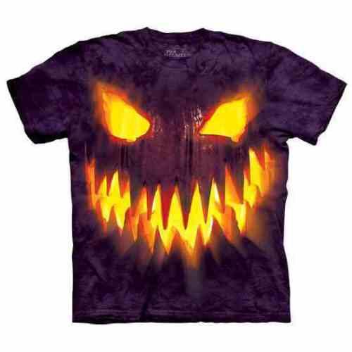 THE MOUNTAIN Big Face Jack Kids//Boys//Child//Girls T-shirt Halloween//pumpkin