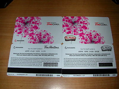 "USA/"" Tim Hortons 2014 /""Spring Pink Flowers/"" Gift Cards /""Canadian"