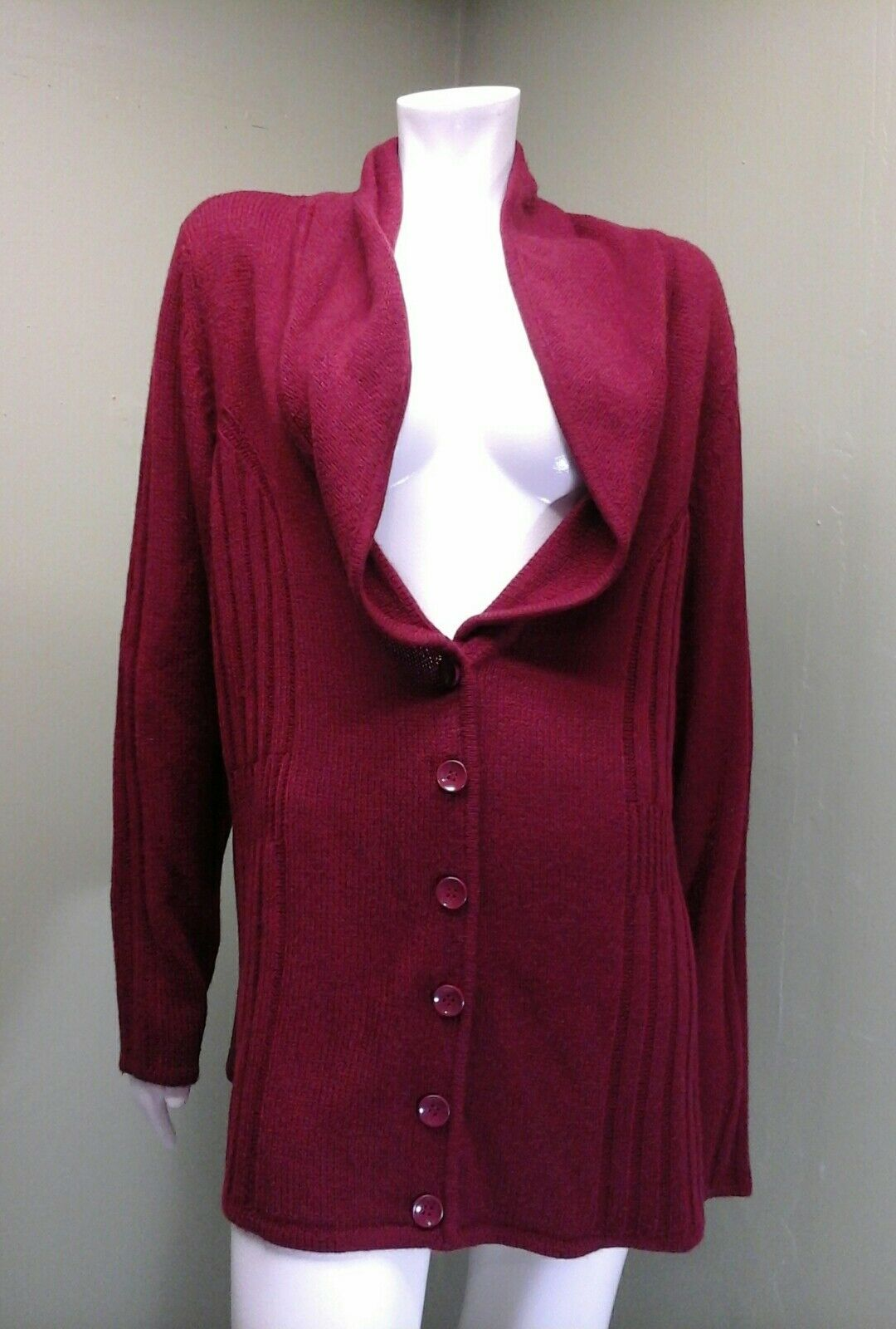 Reference Point NY Women's Maroon Cardigan Sweater Size 2X