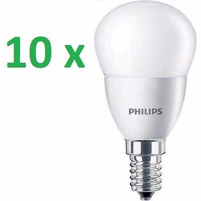 10 x Philips LED LUSTER Tropfen Lampe 5,5W=40W Warm 2700K Kronleuchter E27 KLAR