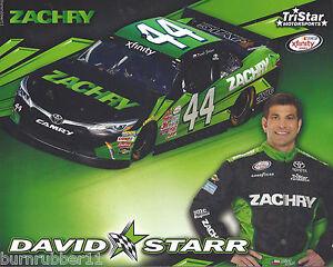 "2015 DAVID STARR /""ZACHERY/"" BLACK CAR 2ND VER #44 NASCAR XFINITY SERIES POSTCARD"