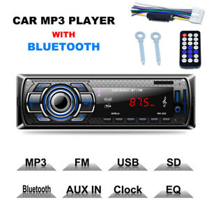 Bluetooth-Car-Stereo-Audio-In-Dash-FM-Receiver-MP3-Player-SD-USB-Aux-Input-12V