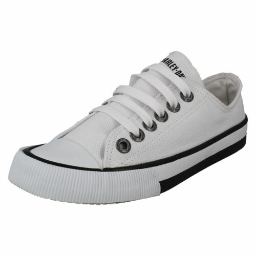 Femmes Harley Davidson Zia Casual Plates à Lacets Pompe Toile Baskets Chaussures Taille
