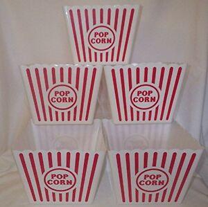 Large Plastic Popcorn Tub 8 5 Quot Square Pack Of 5 New